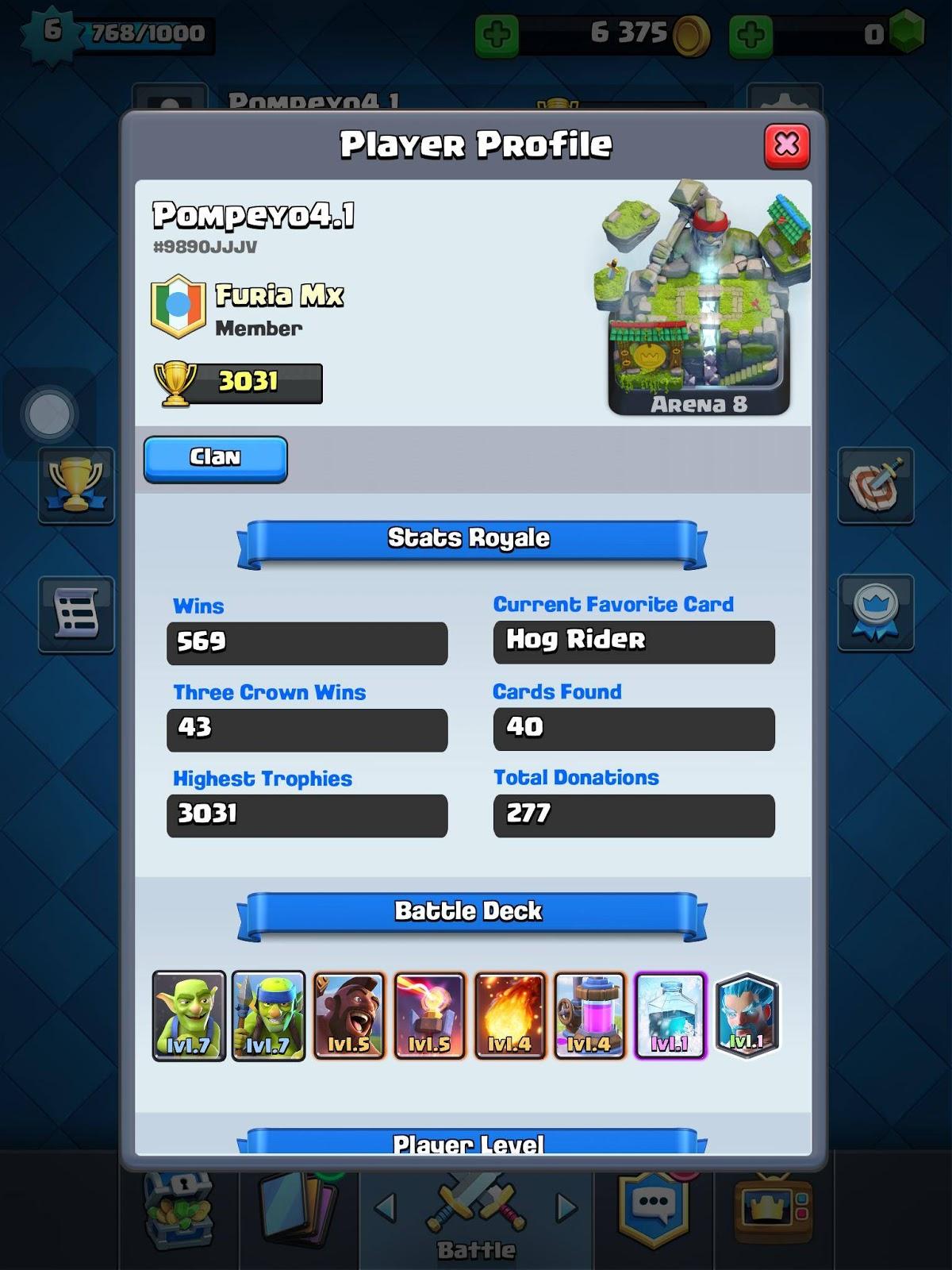 pompeyo4.1 clashroyale legendary deck