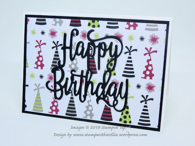 Happy Birthday die Broadway Bound Stampin' Up!
