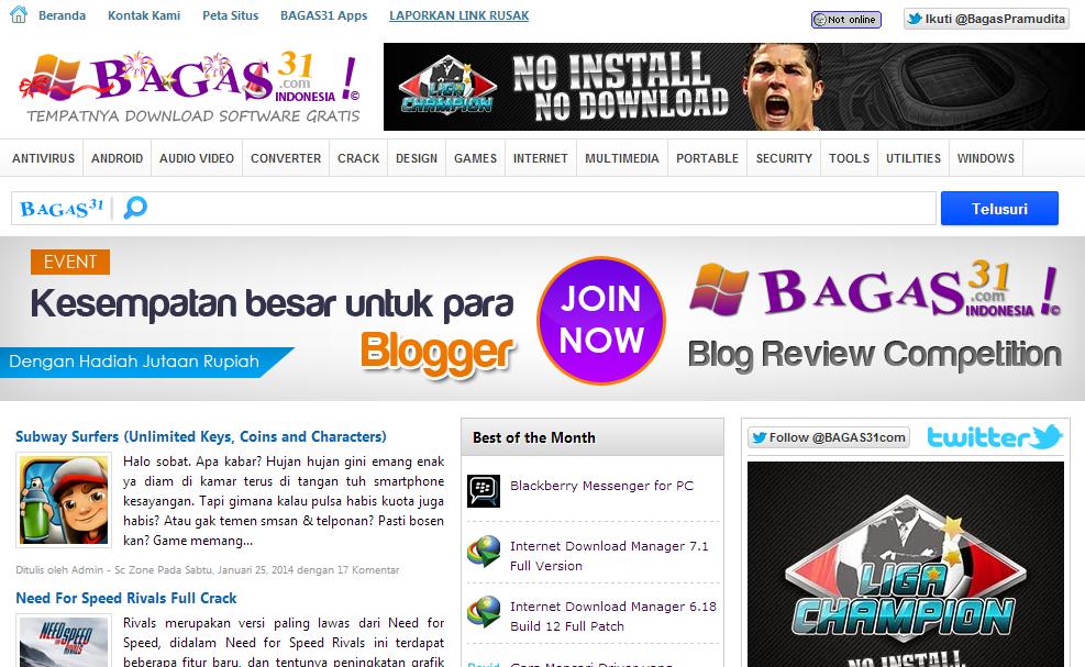Bagas31 Tempat Download Software Gratis Diindonesia Dapatkan