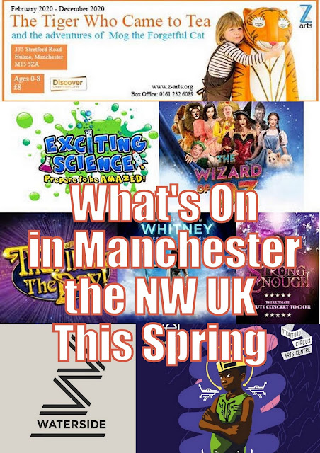 Whats on in Manchester and the NW UK this Spring collage of events below