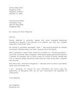Application Letter Sample for Reporter