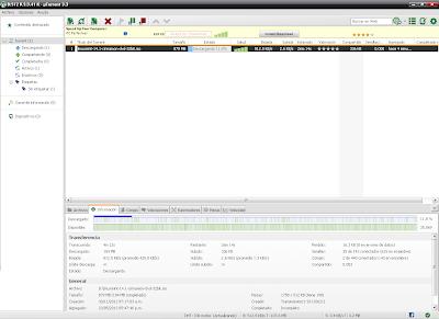 Ventana general de Utorrent