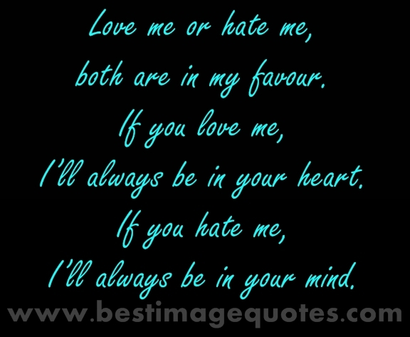 Quotes About Love And Hate: Best Quotes For Your Life