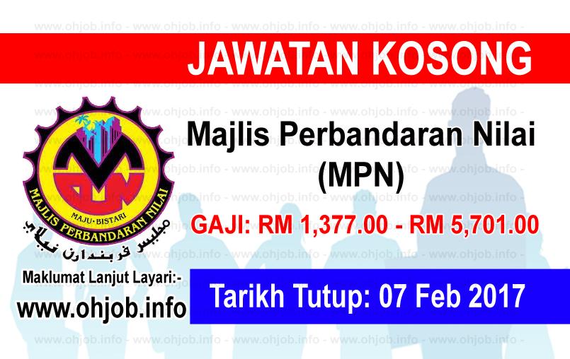 Jawatan Kerja Kosong Majlis Perbandaran Nilai (MPN) logo www.ohjob.info februari 2017