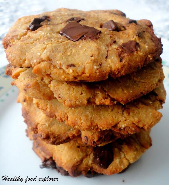 Zdrowe ciasteczka z ciecierzycy