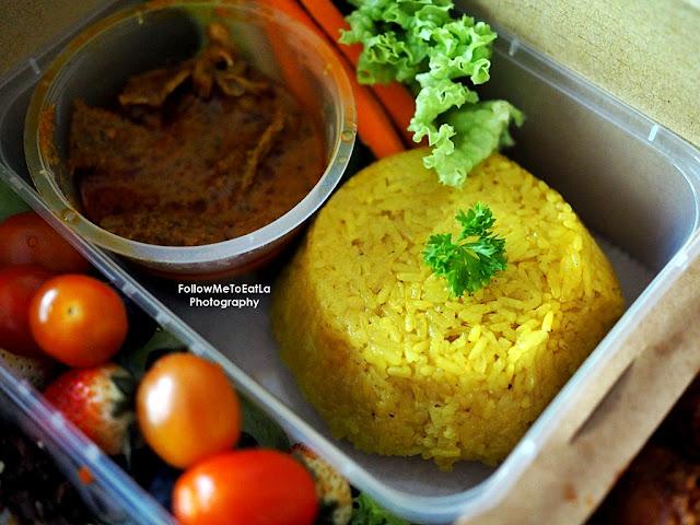 Pulut Kuning and Beef Rendang