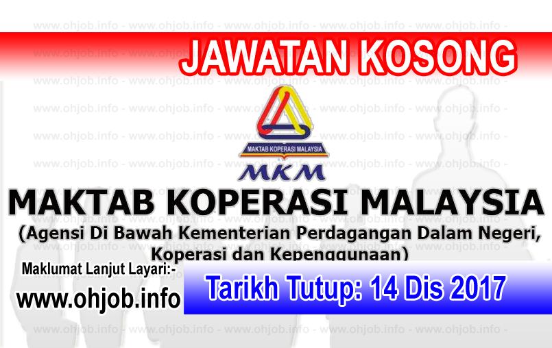 Jawatan Kerja Kosong MKM - Maktab Koperasi Malaysia logo www.ohjob.info disember 2017