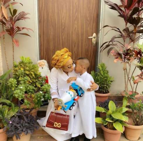 Tonto Dikeh Penned A Gratitude Notes To The Doctors Who Birthed Her Son