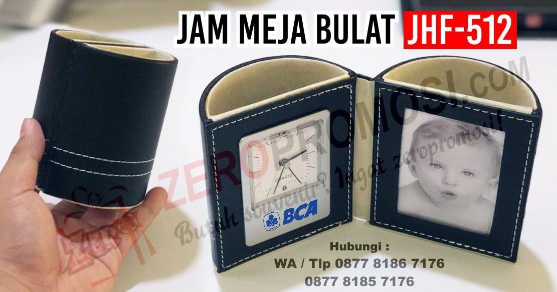 Barang Promosi Jam Meja - Souvenir Perusahaan dan Seminar JHF-512 Bulat
