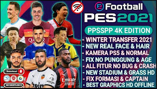 Download PES 2021 PPSSPP Android V6 Best Graphics Full HD & Update Final Winter Transfer