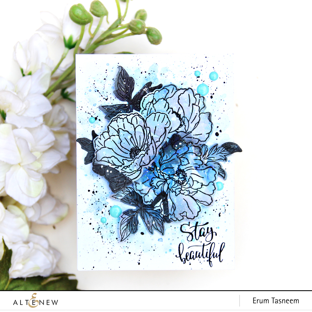 Altenew Live Your Dream Scrapbook Collection + Beautiful Peony Stamp Set | Erum Tasneem | @pr0digy0