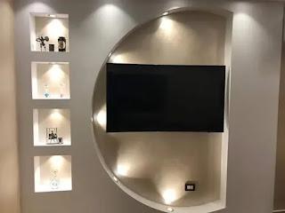 ديكورات جبس حوائط تلفزيون