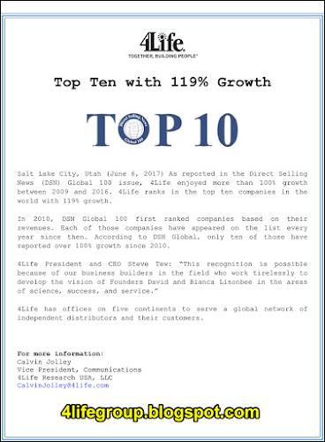foto 4Life 10 Terbaik Dengan Pertumbuhan 119%!