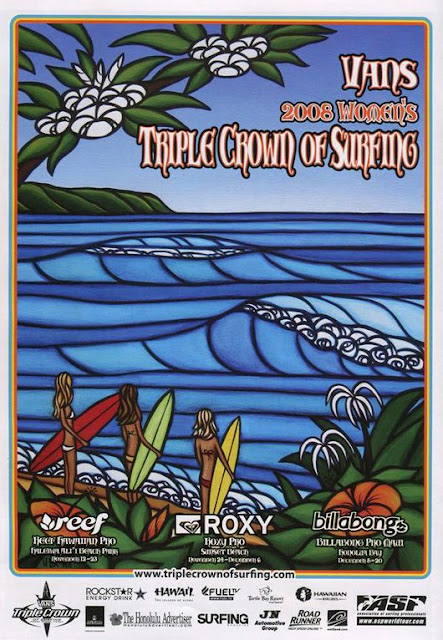 vans surfing picks heather brown to do poster art for triple crown of surfing north shore Oahu Haleiwa