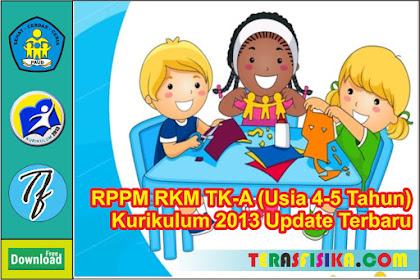 RPPH PAUD/TK-A 1 Lembar Usia 4-5 Tahun Semester 2 Minggu 9-16