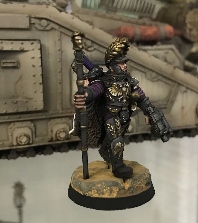 40k Hobby Blog Lord Solar Macharius In Front Of A Macharius
