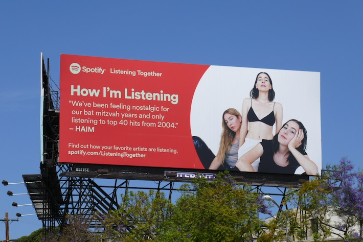 How Im Listening Haim Spotify billboard
