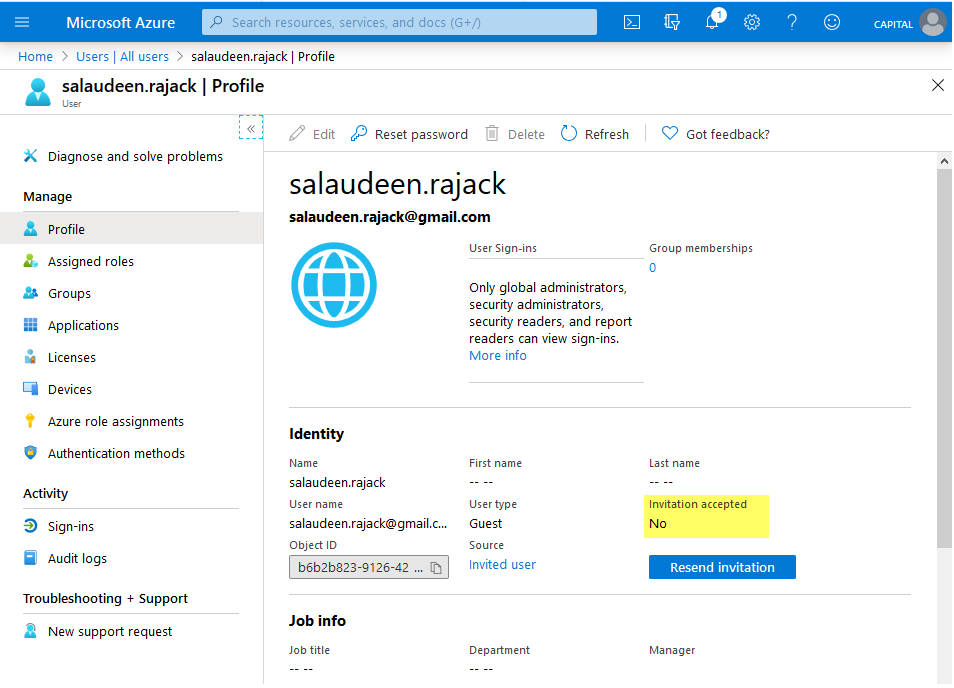 azure ad check if external user invitation is accepted