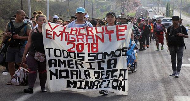 imagen de caravanas de migrantes centroamericanos