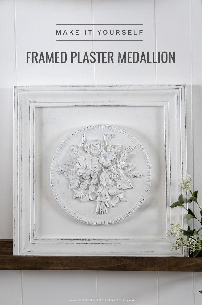 Framed Plaster Medallion