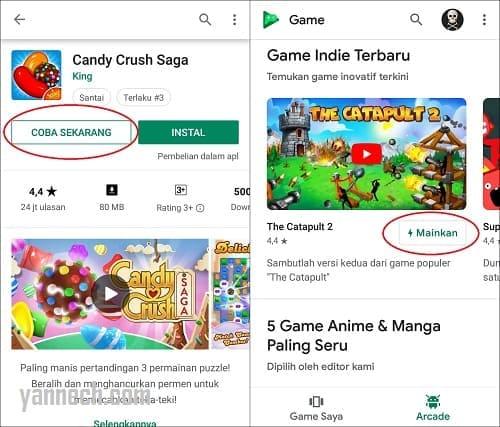 Cara Bermain Game di Android Tanpa Download dan Instal Terbaru