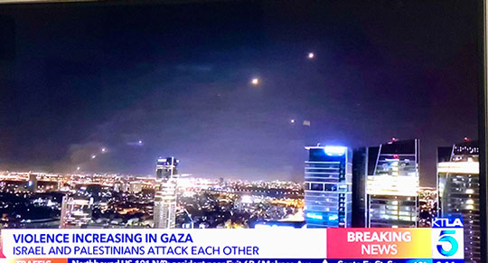 These string of lights are of rocket red glare and not Starlinks (Source: KTLA 5)