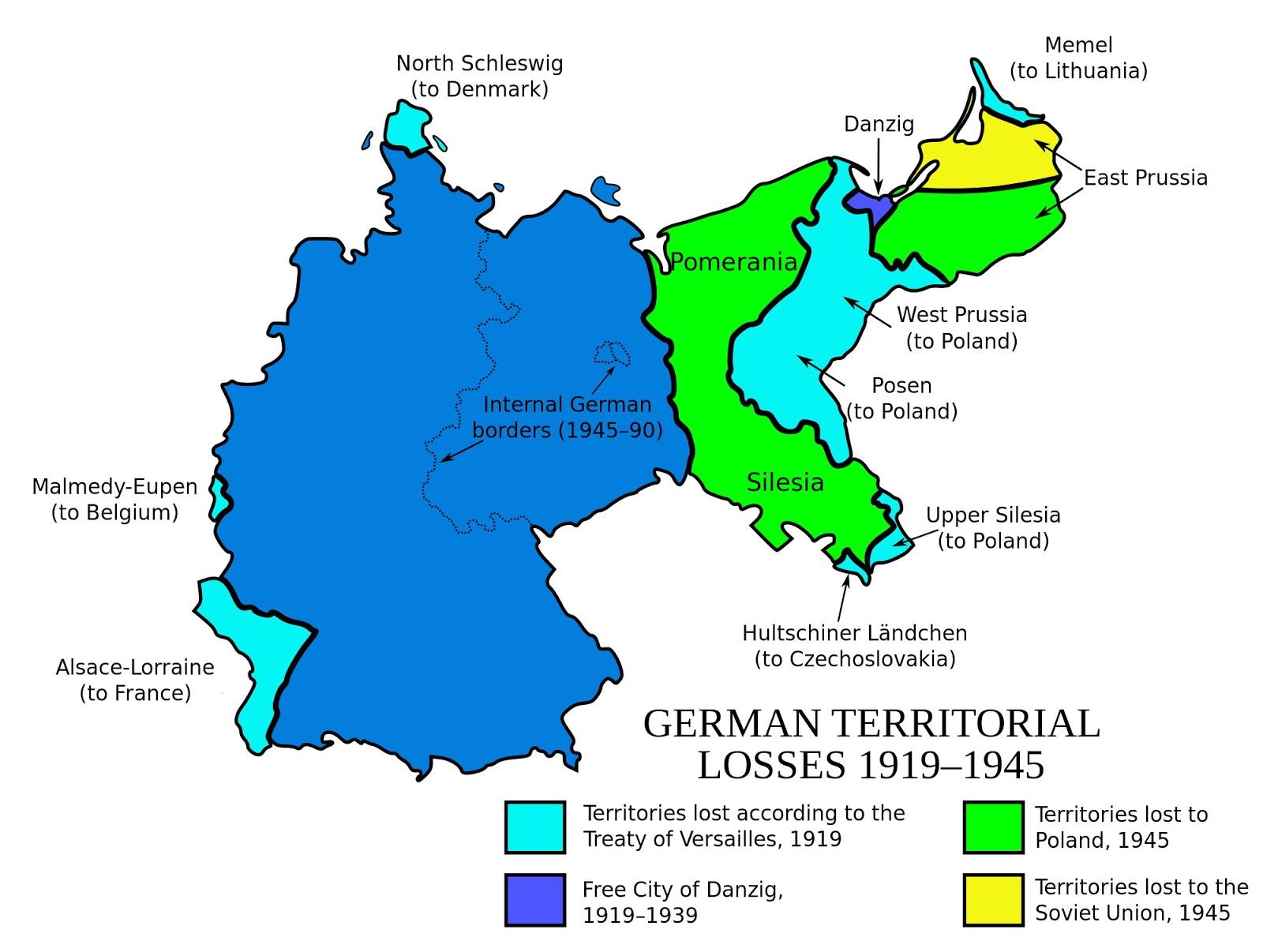 German territorial losses since World War 1