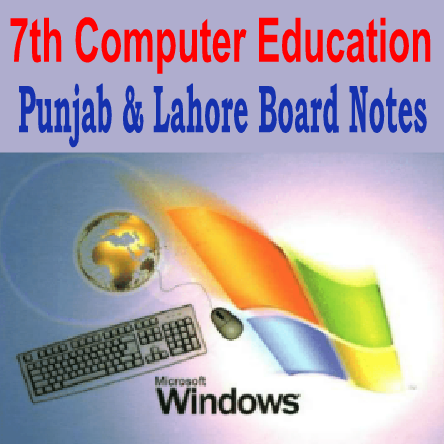 7th Computer Education Notes