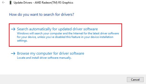 Update driver VGA