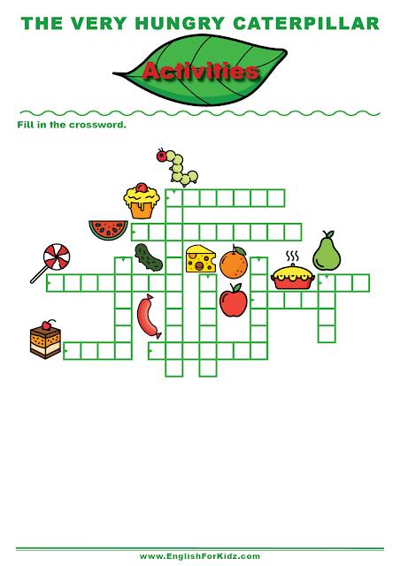 The Very Hungry Caterpillar crossword