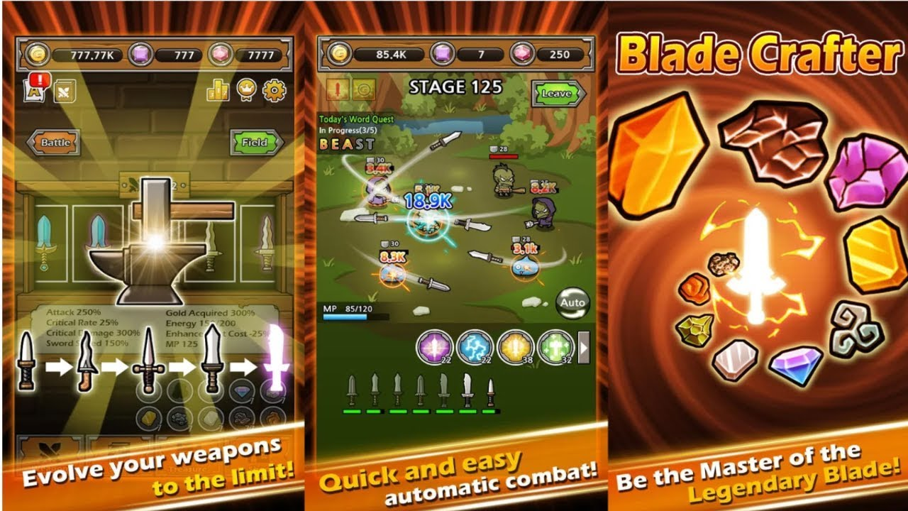Download Blade Crafter 2 Hot Mod Apk 1 12 Unlimited money