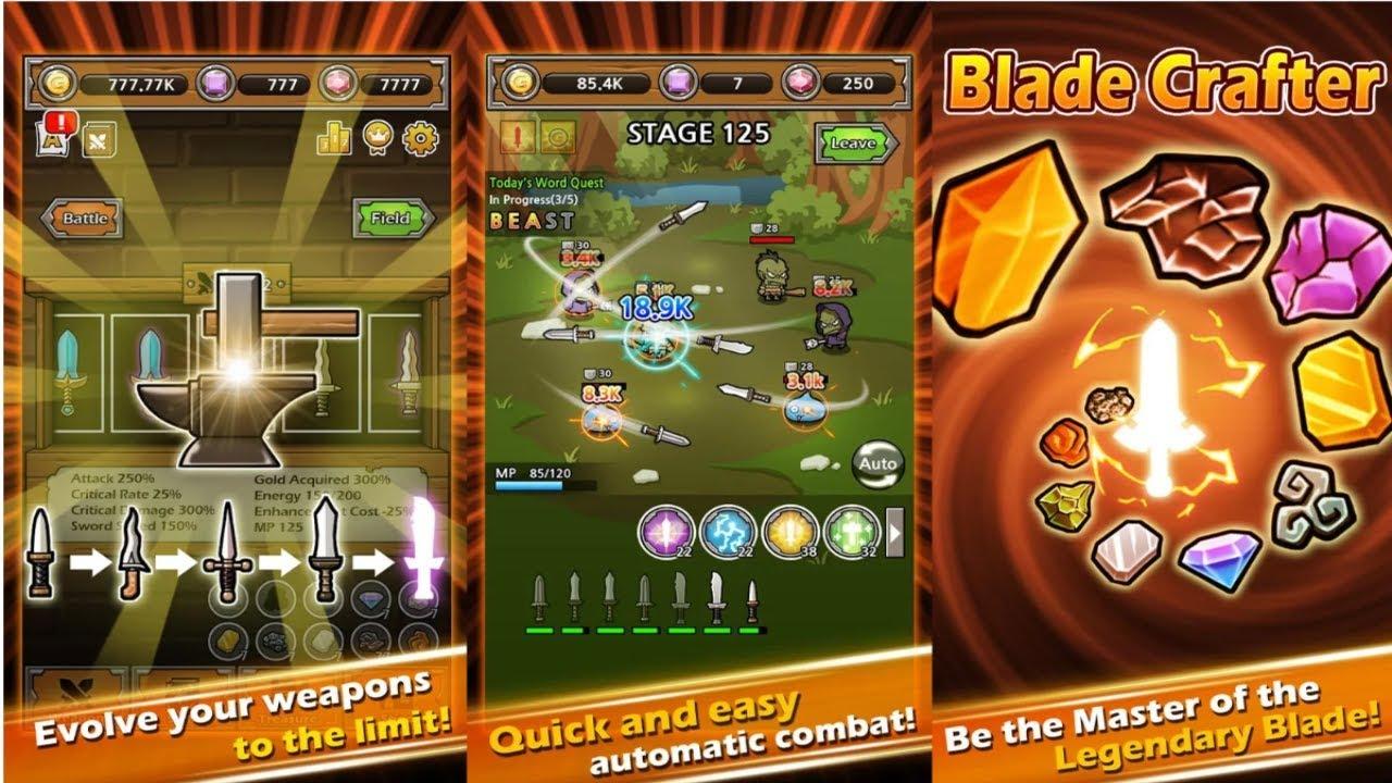 game blade crafter mod apk