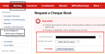 Kotak Mahindra Bank Order Cheque Book