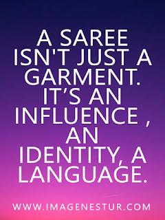 A saree isn't just a garment. It's an influence , an identity, a language.