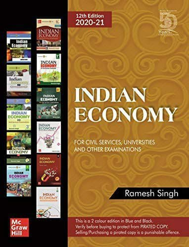 12th Edition Indian Economy 2020 : For UPSC Exam PDF Book