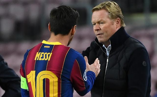 كومان: قرار ميسي بيديه.. وبالغت في تصرفي مع لاعب برشلونة