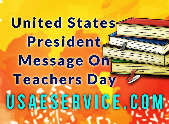 US President Message On Teachers Day