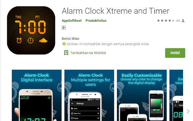 Aplikasi Alarm Terbaik Alarm Clock Xtreme