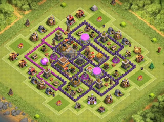 Town Hall 8 New Update Farming Base *Bomb Tower*