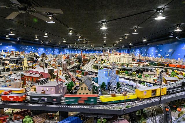 Large display at Corner Field Railroad Museum