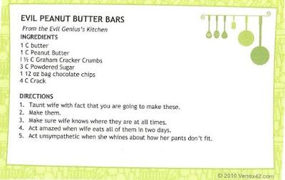 Sarah's Evil Peanut Butter Bars | featured on www.BakingInATornado.com