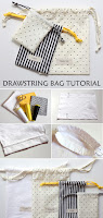 Cute Diy Drawstring Bag Tutorial & Pattern