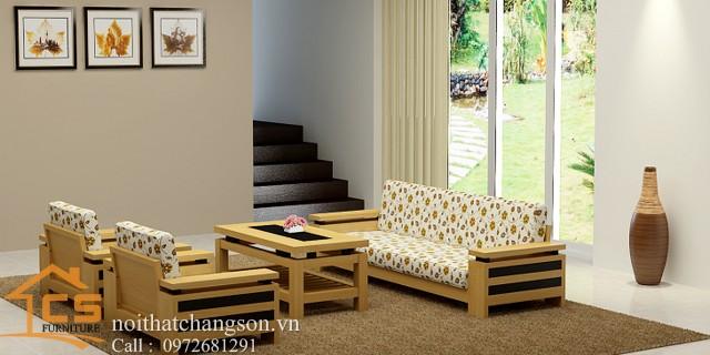 Sofa bền đẹp - giá rẻ sản xuất tại xưởng Nội Thất Chàng Sơn: Sofa đẹp 6