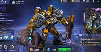 Skin Epic Jhonson Wreck King - Mobile Legends