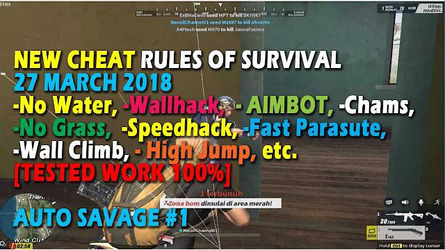 Cheat Rules of Survival Treonin 4.0 Update 27 Maret 2018