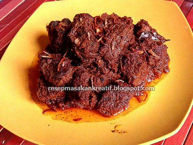 Resep Rendang Padang Daging Sapi Bumbu Kering Asli Minang Aneka Resep Masakan Sederhana Kreatif