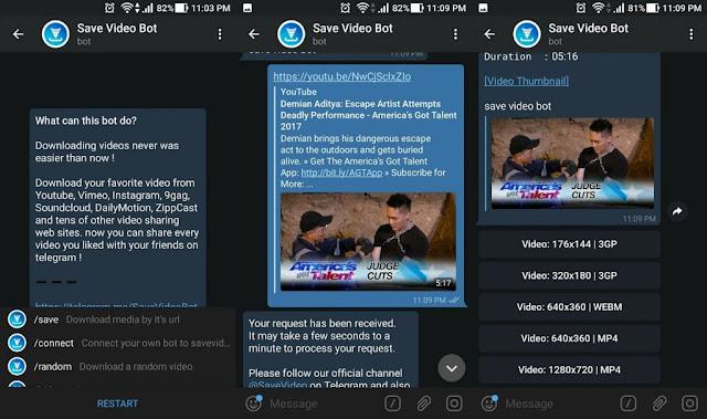 Save video bot