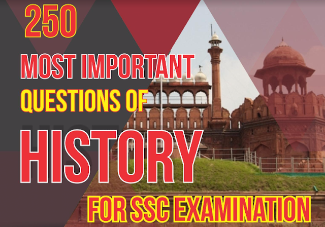 Indian History 250 Important Questions SSC CGL PDF Download