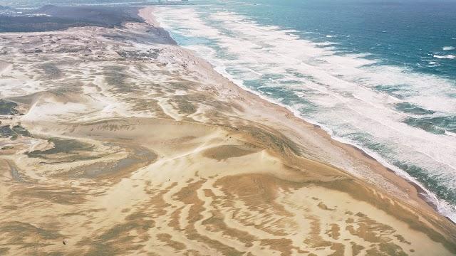 Sand desert lying in amid the city