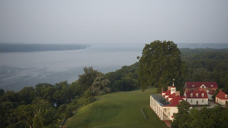 George Washington Estate Potomac River aerial photo view